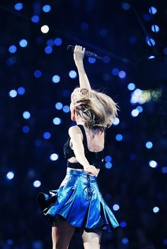 "1989 W.T. - Taylor Swift- the blue lights remind me of the Essie nail polish ""Starry starry night"""