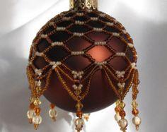 Pattern for Beaded Christmas Ornament cover Ruby por CrystalGaye