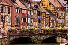 Colmar, a town in Alsace, in the northeast of France close to the border with Germany.  Aside from being a scenic destination, Colmar enjoys a rich and eventful history, far from the hustle and bustle of big cities such as Paris.