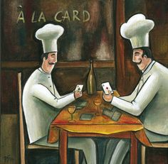 'A la Card' by Frans Groenewald Fat Chef Kitchen Decor, Kitchen Art, Chefs, South African Artists, Africa Art, Wine Art, Kitchen Images, Love And Light, Printable Art