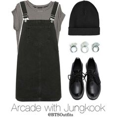 Arcade with Jungkook by btsoutfits on Polyvore featuring mode and Topshop