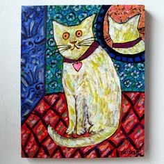 The Cat of Marcel Proust Cat Painting Art by TamarHammersArt