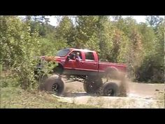 HUGE mud truck's in river!!!
