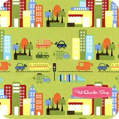 City Streets Olive Busy Downtoswn Yardage SKU# Y0978-24 - Fat Quarter Shop - Ben's curtains?