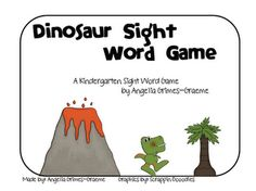 Dinosaur Sight Word Game - Re-pinned by @PediaStaff – Please Visit http://ht.ly/63sNt for all our pediatric therapy pins
