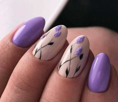 Nail art is one of many ways to boost your style. Try something different for each of your nails will surprise you. You do not have to use acrylic nail designs to have nail art on them. Here are several nail art ideas you need in spring! Cute Spring Nails, Spring Nail Art, Nail Designs Spring, Nail Art Designs, Cute Nail Art, Easy Nail Art, Cute Nails, Pretty Nails, Lilac Nails Design