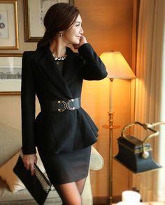 Korean Style Pure Color Flared Hem Wool Coat For Women | Item Code 713496 at m.trendy21.com