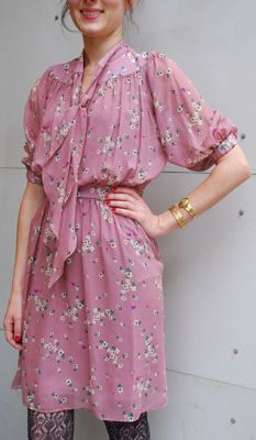 pretty dress!  With tights and platforms and long cardis in the fall.