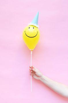 Mini Balloon Hats DIY  Oh Happy Day!