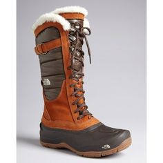The North Face® Tall Lace Up Cold Weather Boots - Shellista Luxe ($150) ❤ liked on Polyvore