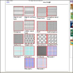 Beading Graph Paper - handy when designing your own patterns.  #Seed #Bead #Tutorial