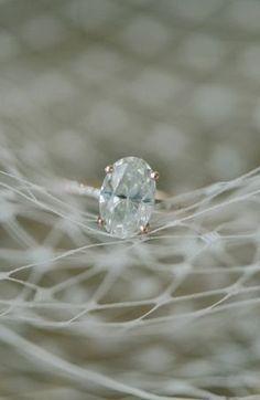 Engagement Photography Inspiration: Oval diamond ring (Elizabeth Fogarty via Bayside Bride)