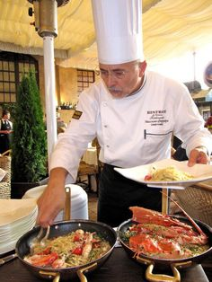 Bistro Italian Restaurant in Moscow Chef Massimo Ferrari preparing lobster Italian Way Address: 12 Bolshoy Savvinskyi pereulok, building 2 Metro: Kievskaya Phone: 248 4045 http://www.passportmagazine.ru/restaurants/1702/