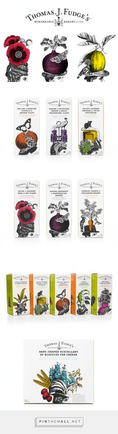 Thomas J Fudge's #packaging by Big Fish - http://www.packagingoftheworld.com/2014/12/thomas-j-fudges.html