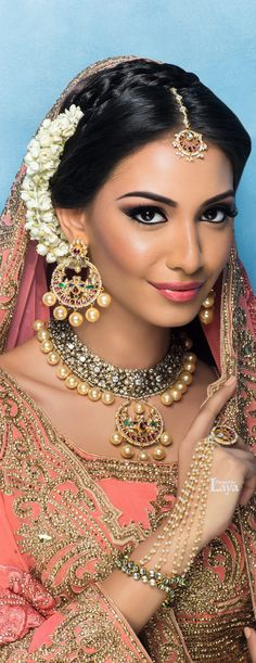 Love the jasmine on the side, and the braid detail across the head!