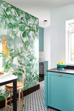Papeles pintados de estilo tropical