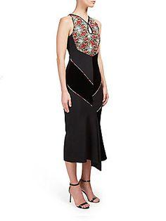 Roland Mouret Printed Sleeveless Asymmetric Dress