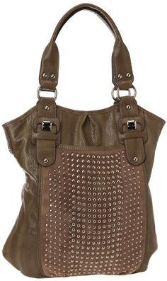 Amazon.com: KATHY Van Zeeland Stud Finder Shoulder Bag,Mushroom,One Size: Shoes