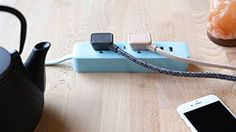 Make your home prettier as you replace one old power bar at a time with our DESIGNER Mint USB Power Strip! Charge your electronics efficiently, and provide power in style! Home improvement - home decor - great gadgets - electronics