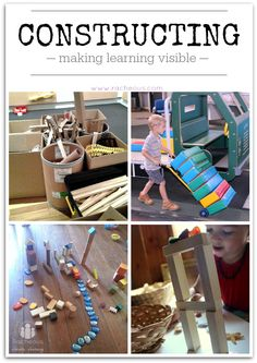 Kids Activities -- construction, building and making learning visible