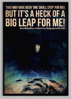 Bruce McCandless Furthest Space Walk Poster