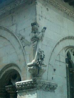 Virgin Mary and Baby Winston Churchill. Lucca, Italy