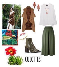 """""""Culottes"""" by thefrugal-fashionista on Polyvore featuring Nine West, Alexander McQueen, Dorothy Perkins, MANGO, INC International Concepts, Kate Spade and Dsquared2"""