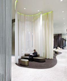 sheer curtains, reading retreat