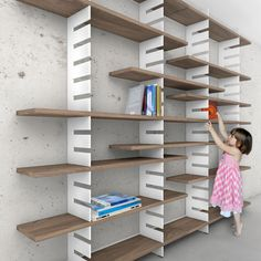 COMB - modular design bookcase, adjustable shelves, designed by MOAD architects