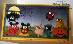 """""""Halloween in Owlville"""" using the Stampin' Up! """"Build A Owl"""" Punch.  ♥♥♥"""