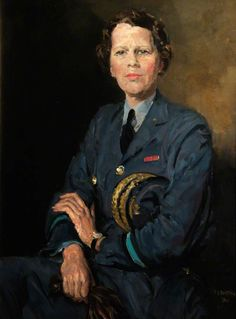 Thomas Cantrell Dugdale RA (1880-1952) —  Air Chief Commandant Dame Katherine Trefusis Forbes, 1941 :  Royal Air Force Museum, London.  UK  (697x944)