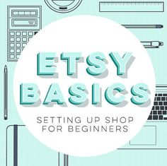 """Sell on Etsy! Learn how to set up shop online for the first time. If you're struggling a bit with instructions that are all over the place, this is the guide for you, as it's completely linear and starts at the absolute start. (If you're looking for a book that's more about increasing sales, check out """"Sell More"""" (available in the same shop)."""