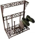 Buy the Small Wellington Boot Rack - Wrought Iron from Fallen Fruits today! A part of our Wellington Racks & Boot Storage range. Shoe Storage Shelf, Hanging Shoe Storage, Shoe Storage Cabinet, Hallway Storage, Closet Storage, Shoe Rack Oak, Metal Shoe Rack, Shoe Racks, Vintage Regal