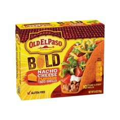 Old El Paso Stand 'n Stuff Bold Nacho Cheese Flavored Taco Shells 10... ❤ liked on Polyvore featuring home, kitchen & dining and serveware