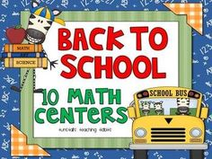 Back to school math centers would be a great way to introduce our station rotation at the beginning of the school year!