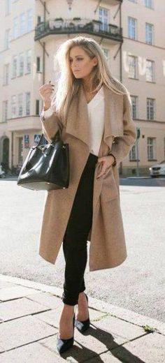 #winter #fashion / camel coat