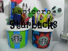 DIY decor: Lapicero Starbucks