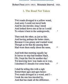 Robert Frost: The road not taken Classic Poems, The Road Not Taken, Robert Frost, Interesting Quotes, Deep Thoughts, Wise Words, No Response, My Life, Poetry
