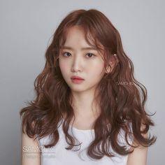 Curly Asian Hair, Korean Wavy Hair, Curly Hair Tips, Curly Hair Styles, Curly Girl, Curly Hair Problems, Biracial Hair, Stylish Haircuts, Permed Hairstyles