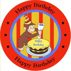 Tremendous 12 Best Curious George Birthday Cards Images Curious Personalised Birthday Cards Veneteletsinfo