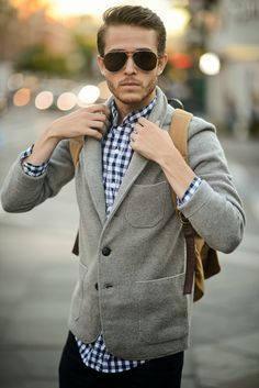 Grey Sweater with BackPack