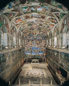 """italianartsociety: """"October 31 marks two important anniversaries for the Sistine Chapel in Rome. On this day in Pope Julius II dedicated the ceiling frescoes painted by Michelangelo over four. Must See In Rome, Michelangelo Paintings, Places To Travel, Places To Go, Europa Tour, Voyage Rome, Sistine Chapel Ceiling, Vatican City, Place Of Worship"""