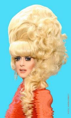 She's the Lady Bunny, club kids--and don't forget it! Drag Queens, Rupaul, Bad Hair Day, Big Hair, Op Art, Club Kids, Hair Raising, Crazy Hair, Vintage Hairstyles