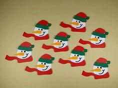 Este lindo aplique natalino dá todo um charme às embalagens de Natal, cartões natalinos e muito mais. Decoração Natalina
