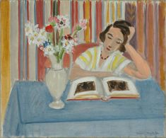 Henri Matisse (French, 1869-1954) Girl Reading, Vase of Flowers 1922 Oil on canvas 15 ⅛ x 18 ¼ in. The Baltimore Museum of Art: The Cone Col...