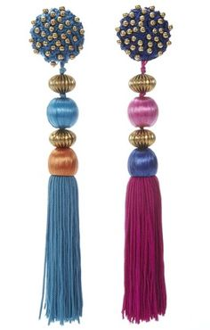 I love that these vintage 1991 tassel earrings by YSl were deliberately designed not to match