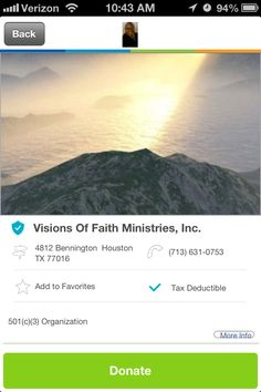 Visions of Faith Ministries, Inc. in Houston, Texas #GivelifyNonprofits