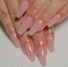 Follow ✨. @trυυвeaυтyѕ for more ρoρρin pins❕ #AcrylicNailsCoffin Natural Acrylic Nails, Clear Acrylic Nails, Pink Clear Nails, Squoval Acrylic Nails, Soft Pink Nails, Pink Ombre Nails, Ballerina Acrylic Nails, Matte Nails, Natural Nails