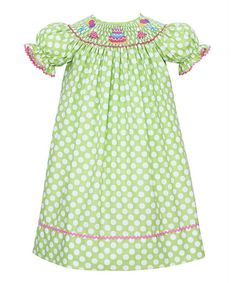 Take a look at this Lime Green Birthday Cake Bishop Dress - Infant & Toddler on zulily today!