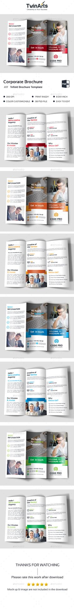 Trifold Brochure  Brochures Print Templates And Template